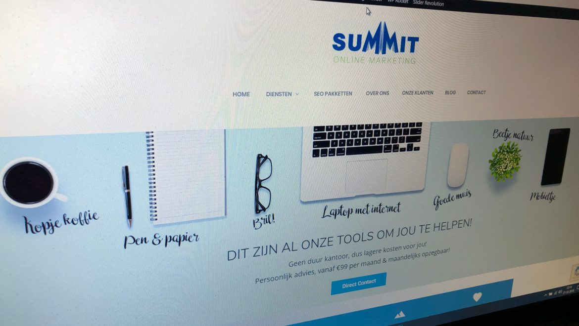 Lease je website via Summit Marketing B.V Almere